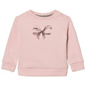 One We Like Girls Jumpers and knitwear Pink Baby Basic Bow Sweatshirt Lotus