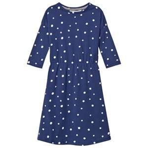 Image of One We Like Girls Dresses Blue Pop Dress Ls Dots Aop Blue