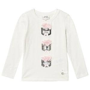 Le Chic Girls Tops White Cream Powder Puff Tee