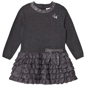 Le Chic Girls Dresses Grey Grey Ruffle Dress