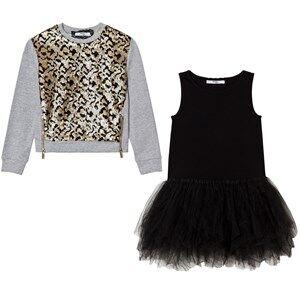Relish Girls Dresses Brown Leopard Sequin Tutu Dress