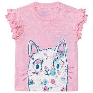 Hatley Girls Tops Pink Pink Cat Tee