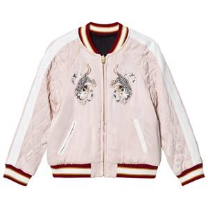 Image of Chloé Girls Coats and jackets Pink Pale Pink Satin Bomber Jacket