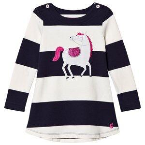 Tom Joule Girls Dresses Navy Navy/White Stripe Horse Applique Dress