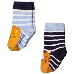 Tom Joule Boys Underwear Navy 2 Pack Navy Lion Socks