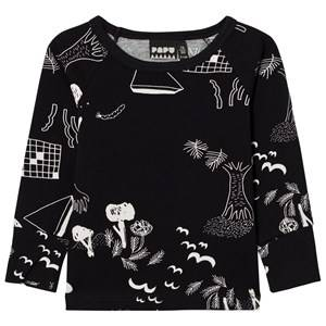 Papu Unisex Tops Black Night Fold Shirt