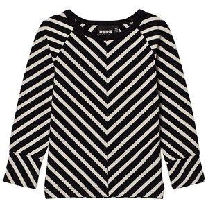Papu Unisex Tops Black Stripe Fold Shirt