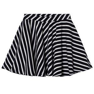 Papu Girls Skirts Black Stripe Circle Skirt