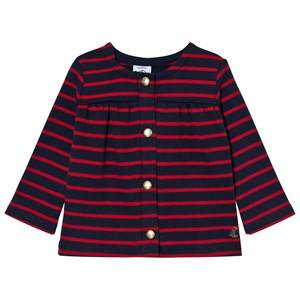 Petit Bateau Unisex Jumpers and knitwear Blue Cardigan Navy/Red