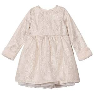 Billieblush Girls Dresses Cream Cream Jacquard Dress