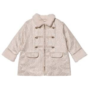 Billieblush Girls Coats and jackets Cream Cream Jacquard Military Coat
