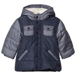 Absorba Boys Coats and jackets Blue Blue Denim and Nylon Padded Coat with Fleece Lining