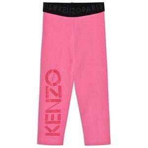 Kenzo Girls Bottoms Pink Branded Leggings Pink
