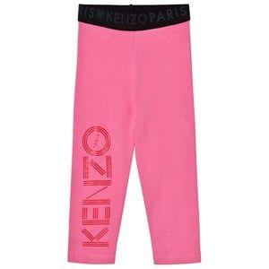 Kenzo Girls Bottoms Pink Branded Leggings Pink