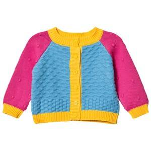 Margherita Kids Girls Jumpers and knitwear Blue Blue Multi Color Block Cardigan