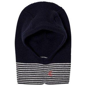 Petit Bateau Unisex Headwear Blue Knitted Balaclava Marine