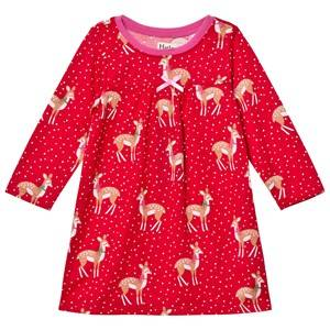 Hatley Girls Nightwear Red Red Deer Print Nightdress