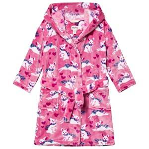 Hatley Girls Nightwear Pink Pink Bunnies Print Robe