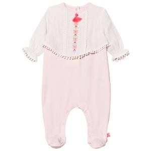 Image of Billieblush Girls All in ones Pink Footed Baby Body Pink/White