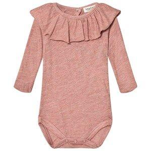 MarMar Copenhagen Unisex All in ones Pink Berta Baby Body Antique Rose