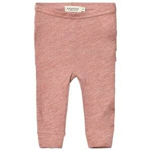 MarMar Copenhagen Unisex Bottoms Pink Lisa Frill Leggings Antique Rose