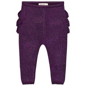 MarMar Copenhagen Unisex Bottoms Purple Pax Frill Leggings Purple Night