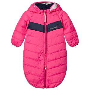 Didriksons Girls Coveralls Pink Hassela Baby Foot Muff Fuchsia