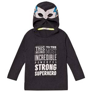 Billybandit Boys 1 Jumpers and knitwear Grey Super Hero Hooded Tee Dark Grey
