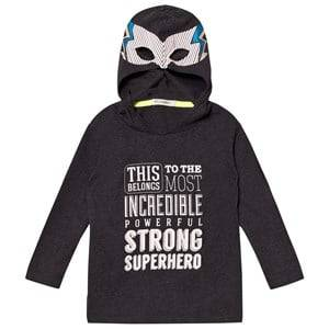 Billybandit Boys 1 Jumpers and knitwear Grey Super Hero Hooded Tee Dark Grey