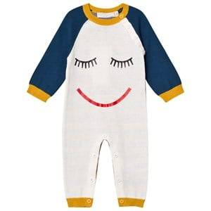 Stella McCartney Kids Unisex All in ones Cream Face Knit Tommy One-Piece Cream