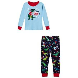 Hatley Boys Nightwear Blue Blue Christmas Dino Applique/Print Pyjamas