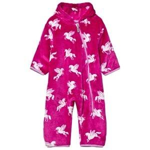 Hatley Girls All in ones Pink Pink Unicorn Fleece Onesie