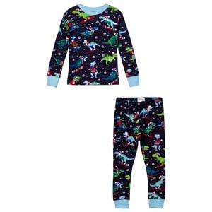 Hatley Boys Nightwear Navy Navy Christmas Dino Print Pyjamas
