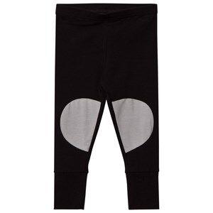 Papu Girls Bottoms Black Patch Leggings Black Grey