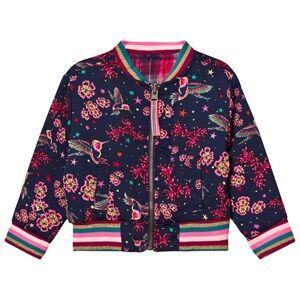 Le Big Girls Coats and jackets Navy Reversible Gemma Bomber Jacket