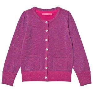 Image of Le Big Girls Jumpers and knitwear Pink Super Pink Sparkle Cardigan