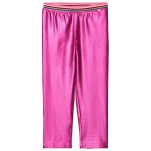 Le Big Girls Bottoms Pink Super Pink Shimmer Leggings