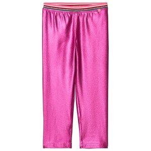 Le Big Girls Bottoms Pink Super Pink Shimmer Leggings