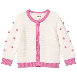 Image of Hatley Girls Jumpers and knitwear Cream Cream/Pink Pom Pom Cardigan