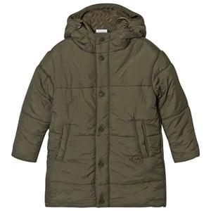 Wynken Unisex Coats and jackets Green Fern Green Pillow Puffer Coat with Double Hood