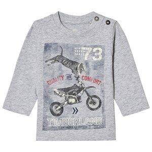 Timberland Boys Tops Grey Grey Motorbike Tiger Print Tee