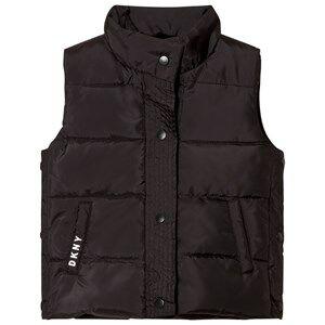 DKNY Girls Coats and jackets Black Black Reversible Gilet Faux Fur