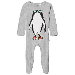 Stella McCartney Kids Unisex All in ones Grey Grey Twiddle Penguin Footed Baby Body