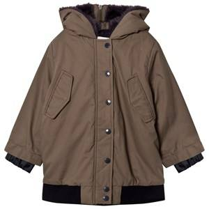 Stella McCartney Kids Girls Coats and jackets Green Olive Dakota Faux Fur Jacket