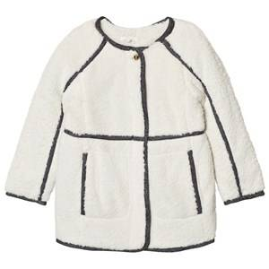 Image of Chloé Girls Coats and jackets Grey Faux Fur Plush Coat  Off White f