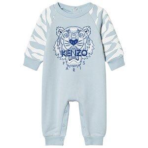 Kenzo Boys All in ones Blue Pale Blue Tiger Sweat Footless Baby Onesie