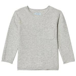 Noa Noa Miniature Boys Tops Grey Zig Zag Knit Sweater Grey