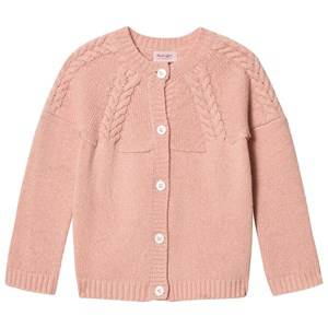 Image of Noa Noa Miniature Girls Jumpers and knitwear Cream Braid Knit Cardigan Evening Sand