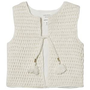 Carrément Beau Girls Coats and jackets Cream Cream Knit Vest Tassle Detail