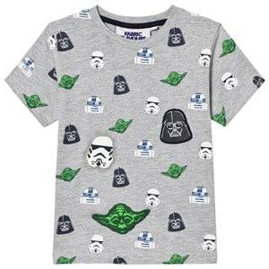 Fabric Flavours Boys Tops Grey Grey Star Wars Multi Character Tee